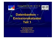 Datenbanken – Emissionskataster Teil 1