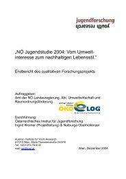NÖ Jugendstudie 2004 - Umweltbildung NÖ