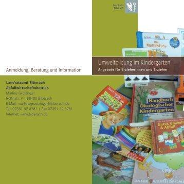 Umweltbildung im Kindergarten