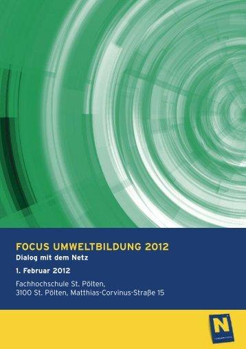 FOCUS UMWELTBILDUNG 2012 - Umweltbildung NÖ