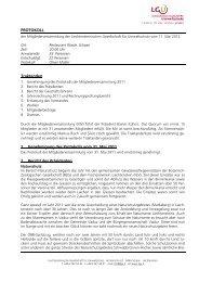 Protokoll der MV 2012 - Liechtensteinische Gesellschaft für ...