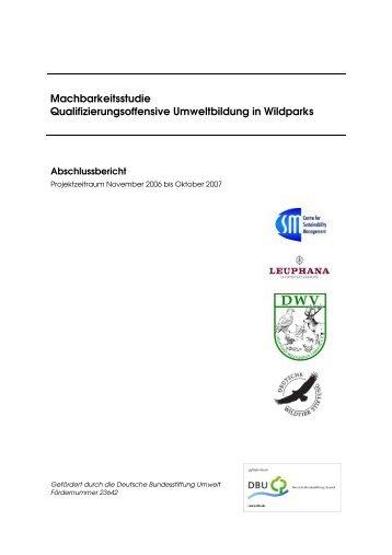 Machbarkeitsstudie Qualifizierungsoffensive Umweltbildung in ...