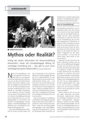 arbeitsmarkt Umweltschutz und Naturwissenschaften, Heft 16 / 2010
