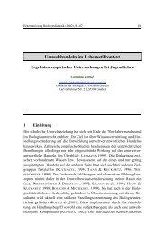 Umwelthandeln im Lebensstilkontext – Ergebnisse empirischer ...