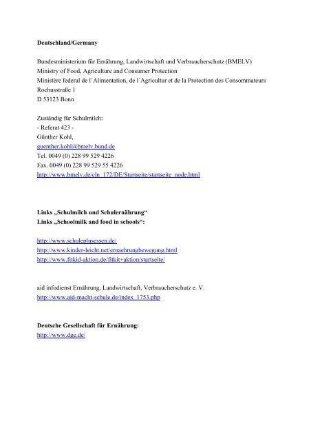 Deutsche Bundesliste Schulmich - BMELV