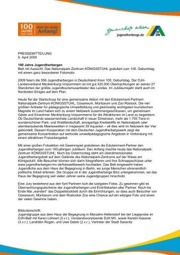 100 Jahre Jugendherbergen - DJH Jugendherbergen Mecklenburg ...