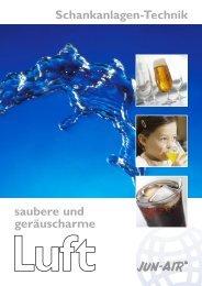 Druckluft für Schankanlagen - Jun-Air