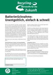 Batterierücknahme: Unentgeltlich, einfach & schnell - GRS-Batterien