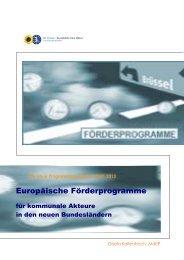 Europäische Förderprogramme - Gisela Kallenbach