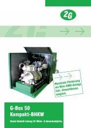 G-Box 50 Kompakt-BHKW - 2G