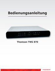 Anleitung WLAN-Modem Thomson TWG 870 Stand: März - Primacom