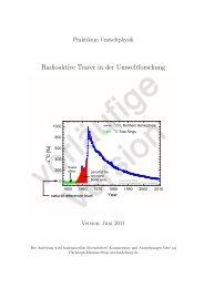 Radioaktive Tracer in der Umweltforschung - Physikalisches Institut ...
