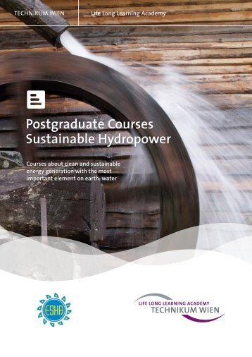 Postgraduate Courses Sustainable Hydropower