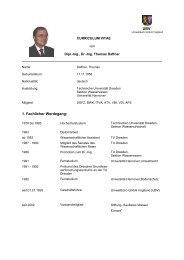 1. Fachlicher Werdegang: UBV - UBV Umweltbüro GmbH Vogtland