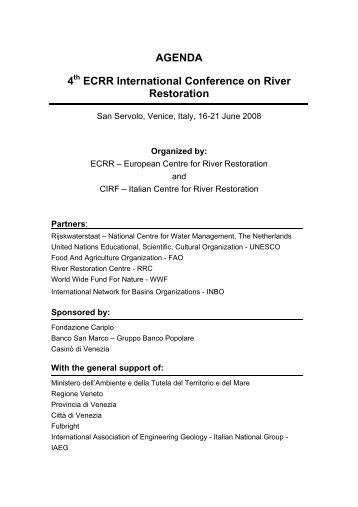 Agenda - European Centre for River Restoration