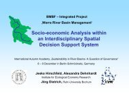 Socio-economic Analysis within an Interdisciplinary Spatial Decision ...
