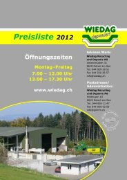Preisliste 2012 - Grimm AG / Wiedag AG