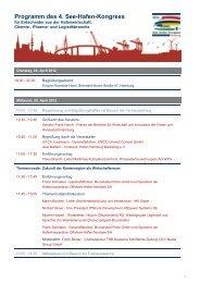 Programm des 4. See-Hafen-Kongress - HHLA
