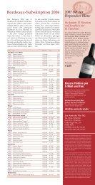 Bordeaux-Subskription 2006 - les amis du vin AG