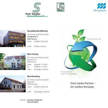 Firmenflyer - Prof. Schaller UmweltConsult GmbH