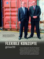 FLEXIBLE KONZEPTE - See-Hafen-Kongress 2012