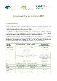 Aktualisierte Umwelterklärung 2009 - EMAS