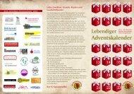 Flyer zum Lebendigen Adventskalender 2010 - Leseratte