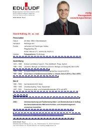 David Külling, Dr. sc. nat. mutig lösungsstark ... - EDU Schweiz
