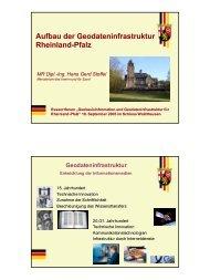 Aufbau der Geodateninfrastruktur Rheinland-Pfalz - GeoPortal ...