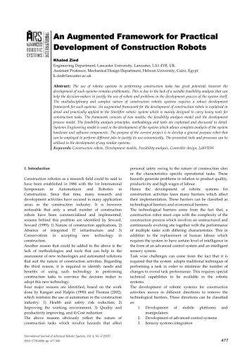An Augmented Framework for Practical Development of ... - InTech