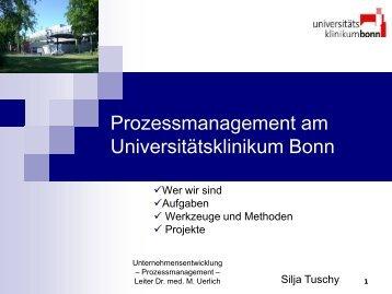 Prozessmanagement am Universitätsklinikum Bonn - dgkpm