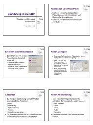 Einführung in die EDV - Medizin 1
