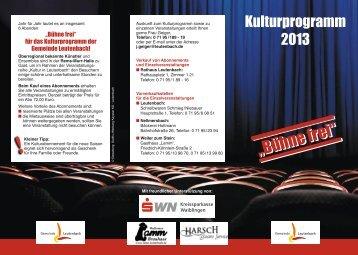 Kulturprogramm - Leutenbach