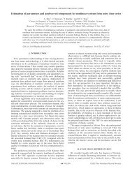 Estimation of parameters and unobserved components for nonlinear ...