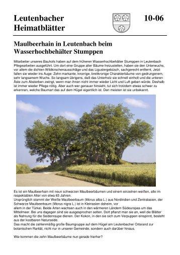 Maulbeerhain in Leutenbach