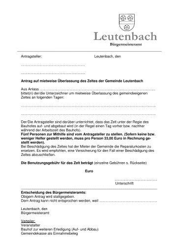 Gemeindezelt - Leutenbach