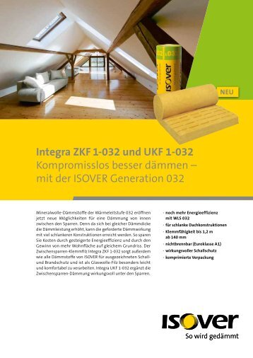 technisches datenblatt integra zkf 1 032 isover. Black Bedroom Furniture Sets. Home Design Ideas