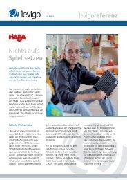 Referenzbericht HABA - Levigo Holding GmbH