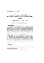 Adaptive Unscented Kalman Filter for Estimation of ... - APORC