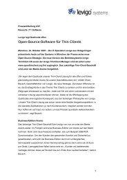 Pressemitteilung Open-Source - .pdf 60KB - Levigo Holding GmbH