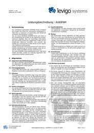 Leistungsbeschreibung - AntiSPAM V1.1-de 2009 ... - levigo gruppe