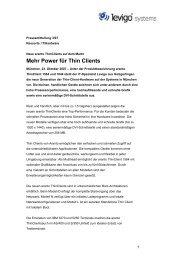 Pressemitteilung neue ThinClients - .pdf 57KB - Levigo Holding GmbH