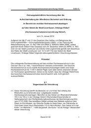 Hochwasserschutzzonenverordnung Hitdorf 5/66 ... - Stadt Leverkusen