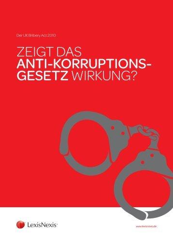 Der UK Bribery Act - LexisNexis GmbH