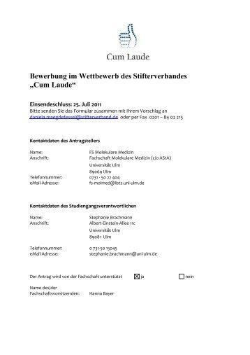 pdf download der bewerbung stifterverband fr die deutsche - Bewerbung Pdf