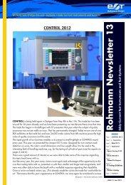 Rohmann Newsletter No. 13