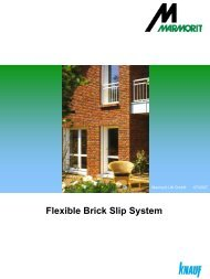 Marmorit Brick Slip brochure - Build It Green