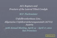ACL Rupture and Fracture of the Lateral Tibial ... - Fischmeister