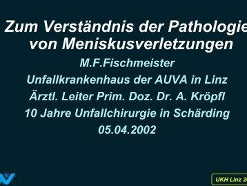 Zum Verständnis der Pathologie von ... - Fischmeister