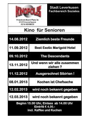 Download: Seniorenkinoprogramm 2012/2013 - Stadt Leverkusen